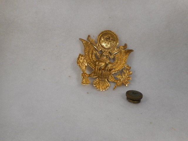 Vintage Metal Military Emblem Insignia Pin