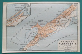 "1934 MAP 4 x 6"" (10 x 15 cm) - ALEXANDRIA City Plan Egypt - $12.60"
