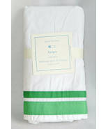 Pottery Barn Kids Harper Crib Skirt Bright Green Ribbon Nursery Baby Cla... - $37.83