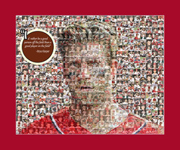 Bryce Harper Nationals Photo Mosaic Print Art using 50 different player ... - $20.00