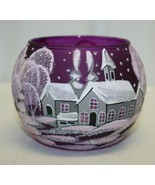 "3 "" Candle Holder Hand Painted Textured Glittered Made In Ukraine - $4.95+"