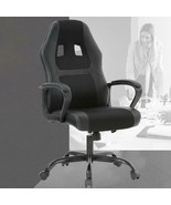 Racing Style Ergonomic Gaming Chair With Lumbar Support, Black - $158.99