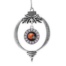 Inspired Silver Black and Orange Team Helmet Circle Holiday Decoration C... - €12,49 EUR