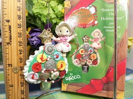 Enesco Buttoning up Our Holiday Best ornament Mice Button Christmas tree - $29.65