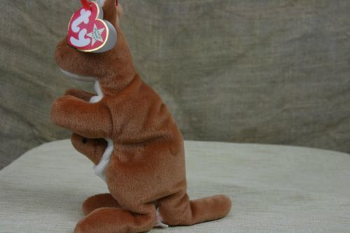 TY Beanie Babies Pouch The Kangaroo With Joey Plush Stuffed Animal With Tags 4a32065230e7