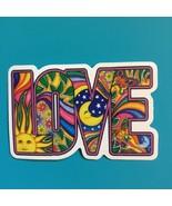 Small Mosaic Love Vinyl  Sticker   Hippie - $3.29