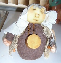 Vintage Doll Figure Folk Art Plush Hand Crafted DRUMMER BOY Folk ArHome ... - $29.82