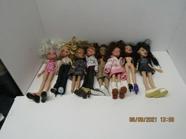 Lot of 8 Bratz Dolls, As is, in played with condition. - $59.40