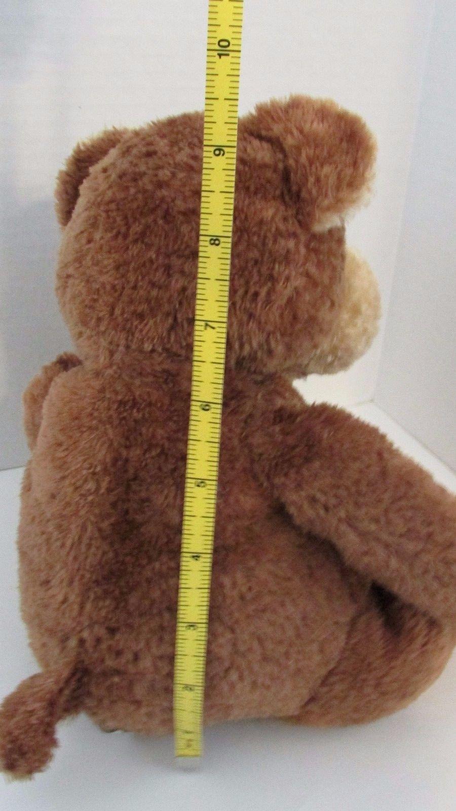 Mary Meyer Teddy Bear plush brown textured fur tan face ears feet seated
