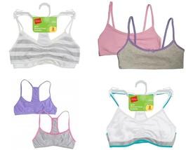 2-Pack Hanes Girls Racerback / Crop Top Training Bra Bralette S,M,L NWT ... - $7.11+