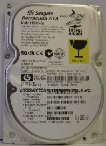 "30GB 3.5"" IDE Drive Seagate ST330640A Tested Good Free USA Ship Our Drives Work"