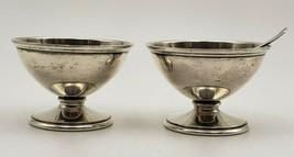 Pair of Vintage Sterling Silver Salt Dips by Kirk w/ 1 Salt Spoon (#6980 - $125.00