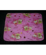 LITTLE TWIN STARS LUCKLY TEDDY BEAR BEST WISHES PINK BABY BLANKET WATERP... - $26.65
