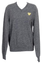 PLAY Comme Des Garcons for J Crew  Wool V Neck Sweater Gray Size S - $197.99