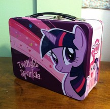 MY LITTLE PONY -- Pinkie Pie, Twilight Sparkle --  Large Tin Lunch Box Tote - $7.92