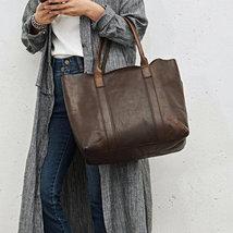 On Sale, Handmade Women Tote Bag, Full Grain Leather Shoulder Bag image 5