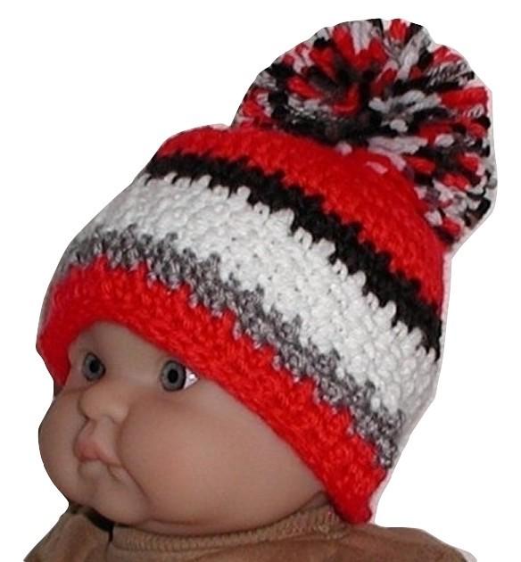 Brand New Baby Boys Double Pom Pom Hats 12-24 Months