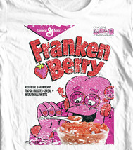 FrankenBerry box T-shirt Monster Cereal Boo-Berry Chocula retro 80's cotton tee image 1