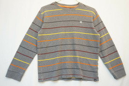Hurley Midweight Cotton Thermal Shirt, Striped, Boy's Large (10-12)  9313 - $14.88