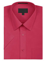 Men's Solid Color Regular Fit Button Up Premium Short Sleeve Dress Shirt image 13