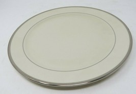 Pickard Signature Plain Bracelet Dinner Plate, Platinum Handmade in the ... - $42.74