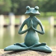 SPI Home 50791 Meditating Yoga Frog Garden Sculpture - £69.81 GBP