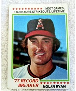 NOLAN RYAN 1978 TOPPS RECORD BREAKER CARD#6 VG+-ANGELS PITCHER HOFER - $9.85