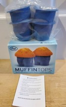 Set Of 4 Muffin-Tops Cupcake Muffin Molds Silicone Baking Cups Novelty B... - $14.49