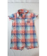 Carters Baby Boys 24M Plaid One Piece Romper Outfit Short Sleeve - $7.91