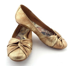 BORN Size 6 Fusion Gold Ballet Flats Shoes 36.5 - $44.00