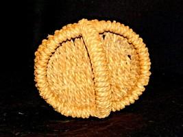 Handmade Woven Wicker Basket with Handle AA-191713 Vintage Collectible image 2