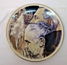 """Norman Rockwell """"Freedom Of Worship"""" 1976 Gorham Fine China Plate - $19.79"""