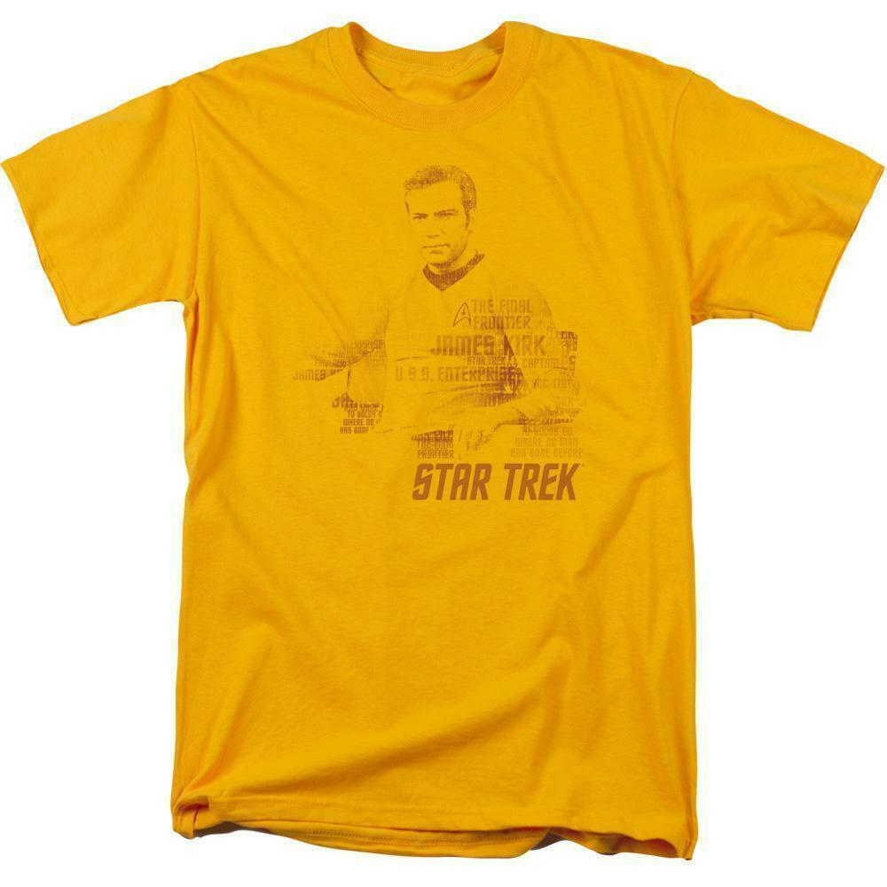 Star Trek James Kirk t-shirt The Final Frontier classic TV graphic tee CBS1121