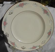 "Lenox Petite Rose Dinner Plates 4 Pierced Reticulated Gold 10 7/8"" - $84.14"