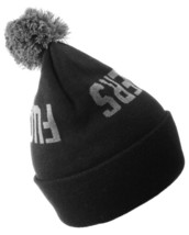 Official Crown of Laurel Black Gray EFFERS Fu$kers Pom Beanie Winter Hat NW image 2