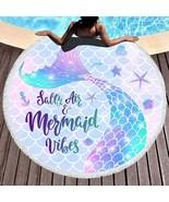 Bonsai Tree Mermaid Beach Towel, Tail Large Round Towel with...  - $29.46