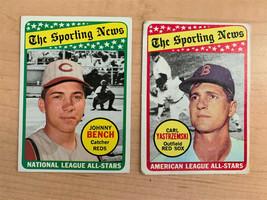 1969 Topps Sporting News All-Stars Baseball Cards - Bench & Yaz - $19.75