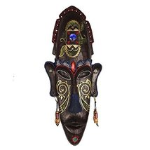 George Jimmy Medium-Sized Carved African Mask Wall Hanging Africa Decor Wall Art - $64.72