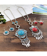 Layering bohemian necklace, necklace set, beaded necklace, layered neckl... - £13.45 GBP