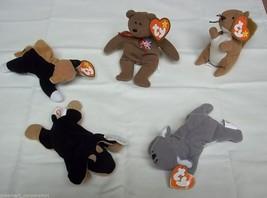 Ty Teenie Beanie Babies Lot of 5 Doby Chip Mel Nuts Britannia - $11.22