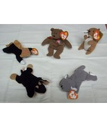 Ty Teenie Beanie Babies Lot of 5 Doby Chip Mel Nuts Britannia - $11.22