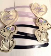 Gymboree Petite Mademoiselle Barrette Clip Snap NWT Purple Heart Jadore Paris - $14.95