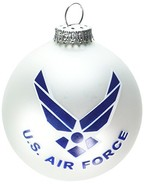 "TRUE VALUE COMPANY U.S. Air Force, 3-1/4"" Glass Ornaments - $22.43"