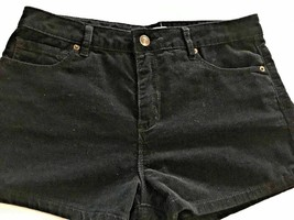 Women's Juniors Forever 21 Black Cord Short Shorts Size 28 Pockets 015-07 - $14.99