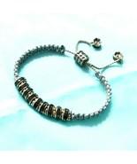 B94 Adjustable Bracelet Grey Rhinestone  - $22.47