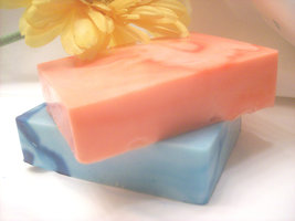 warm orange gingerbread goats milk soap and clean cotton soaps of 2 - $10.00