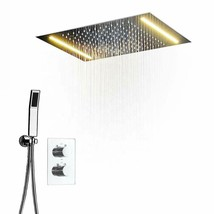 """Ceiling Mounted Rain Shower System Handheld Shower LED 14""""x20"""" Oil Rubbed Bronze - $1,484.99"""