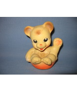 Vintage Rubber Baby Toy Teddy Bear, Made in Italy - $6.99