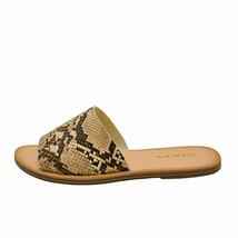 Soda SANSA-S Tan Snake Women's Open Toe Slip On Slide Sandals - $24.95+