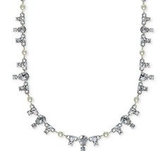 $88 Givenchy Silver Tone Simulated Pearl Necklace - $34.91